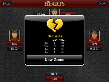 hearts game for ipad