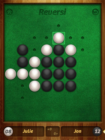Reversi positional strategy